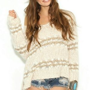 Free People Ultra Soft Slouchy Striped Sweater